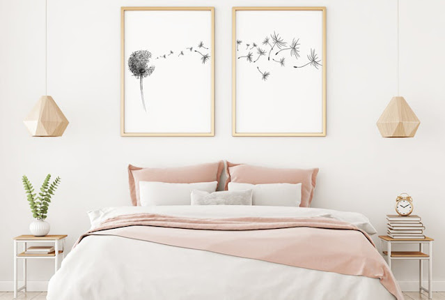 small bedroom with minimum pillows