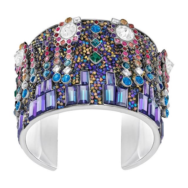 Multi-coloured Swarovski Crystal Cuff Bracelet