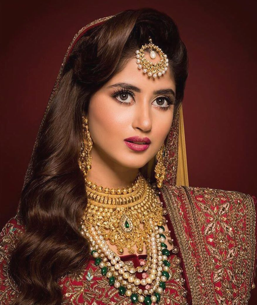Pakistani Celebrities Entertainment: Sajal Ali Bridalshoot