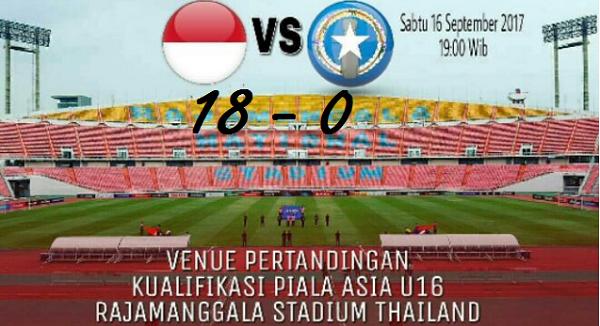 Menang Telak! Indonesia 18-0 Northern Mariana Islands di Kualifikasi Piala Asia U-16