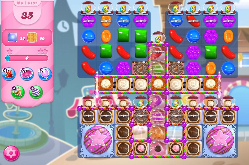 Candy Crush Saga level 6167