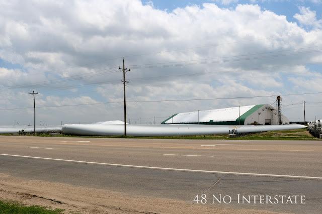 48 No Interstate back roads cross country coast-to-coast road trip Kansas wind turbine blades