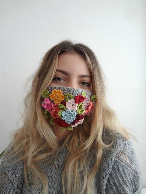 Crochet Flower Face Mask