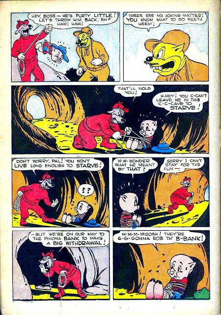 Porky Pig / Four Color Comics #48 dell comic book page art by Carl Barks art