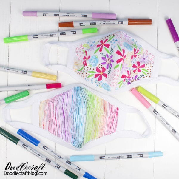 How to decorate  face masks using Tombow ABT Pro Alcohol Based Markers