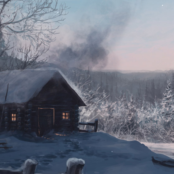 Winter Hut Wallpaper Engine