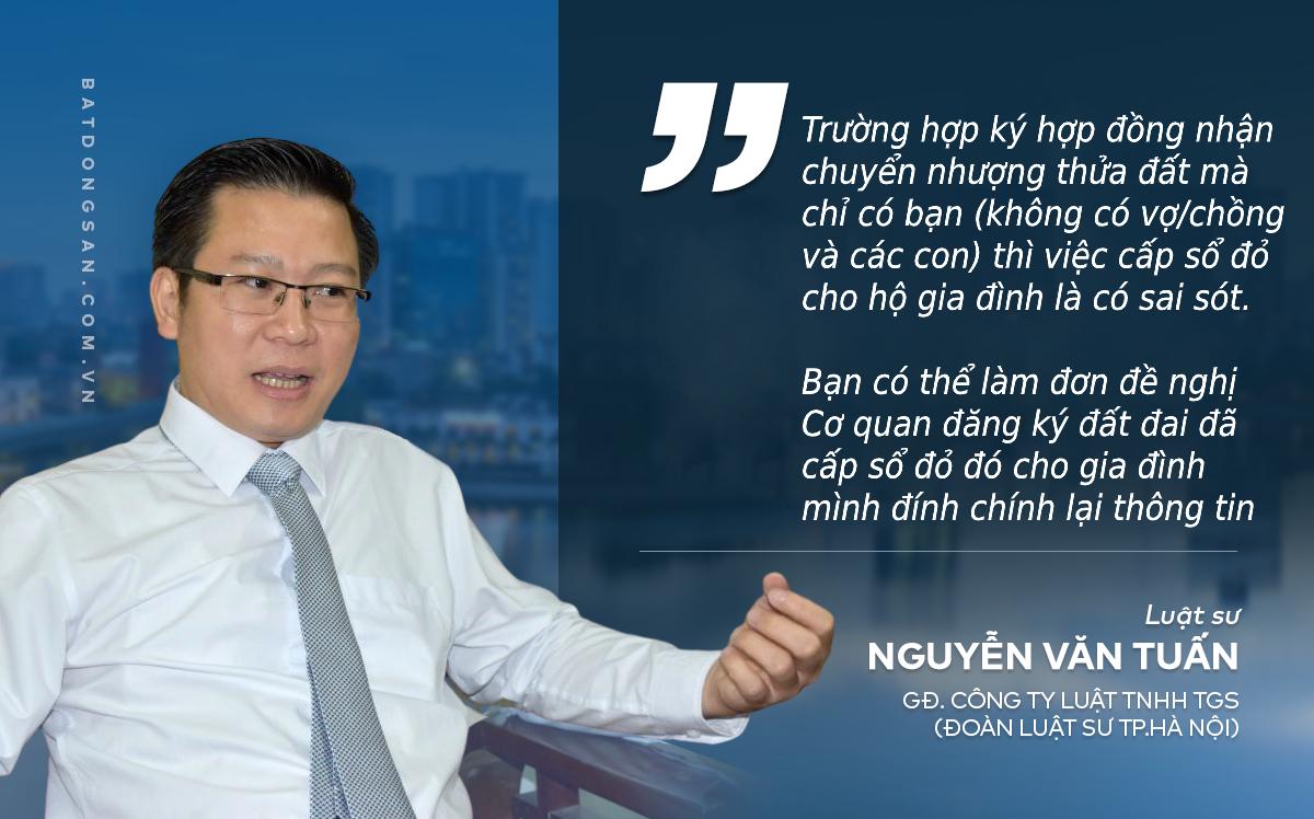 luật sư Nguyễn Văn Tuấn chia sẻ với Batdongsan.com.vn
