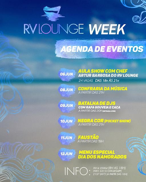 Semana de música e gastronomia no RV Lounge