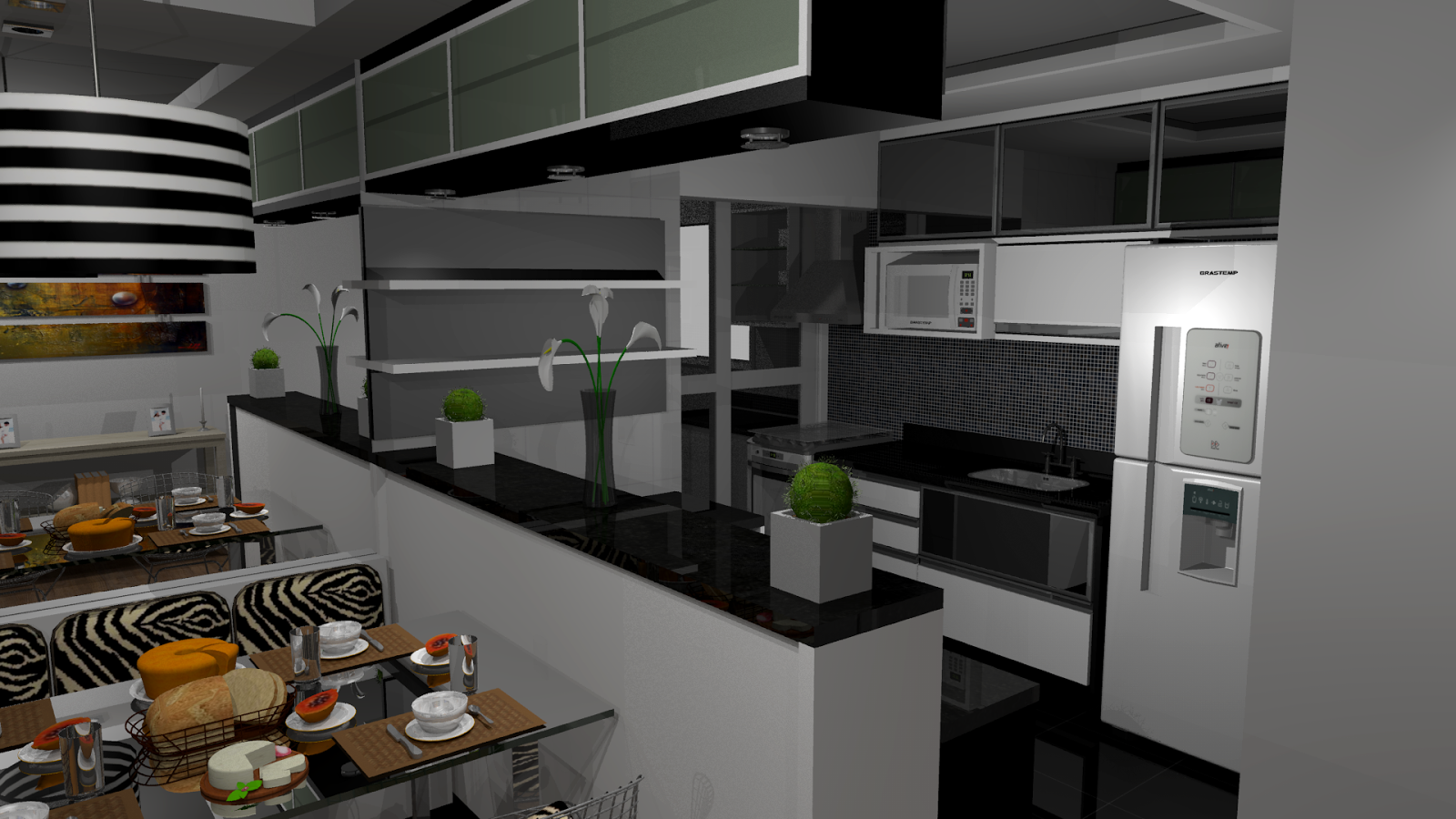 Copa Cozinha Moderna Cozinha Copa Planejados Decorao Arquitetura