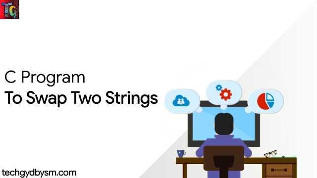 C Program To Swap Two Strings