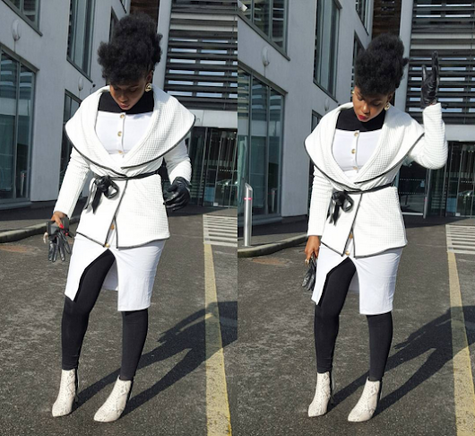 Yemi Alade steps out looking fab in black & white outfit!