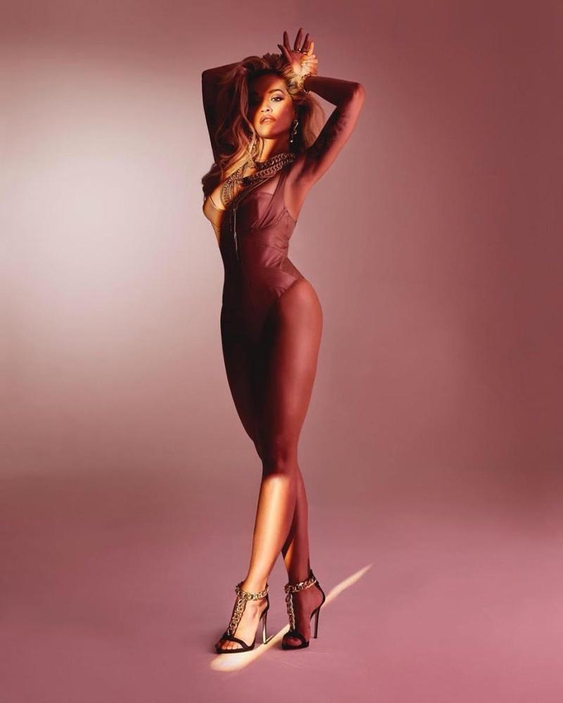 Giuseppe Zanotti x Rita Ora Curb Chain T-Strap Sandal