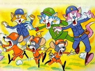 La Guerra entre Ratones y Gatos con moraleja de Esopo