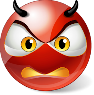 Devil angry smiley