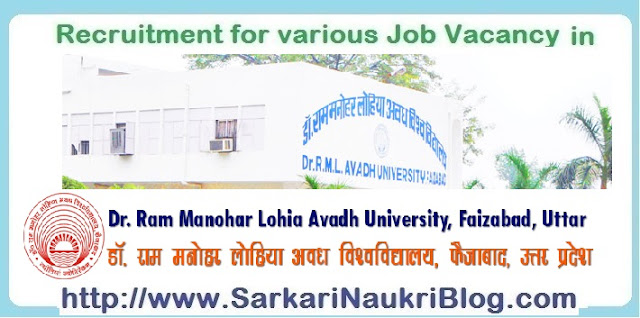 Naukri Vacancy Recruitment RMLAU Faizabad
