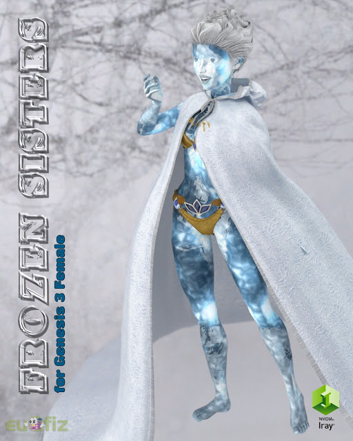 Iray Frozen Sisters for Genesis 3 Female