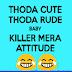atitude status in hindi