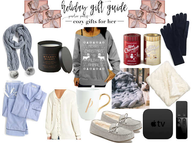 parlor girls holiday gift guides cozy gifts for her christmas shopping ideas