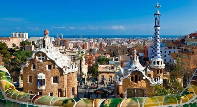 Vista do Parc Guell em Barcelona