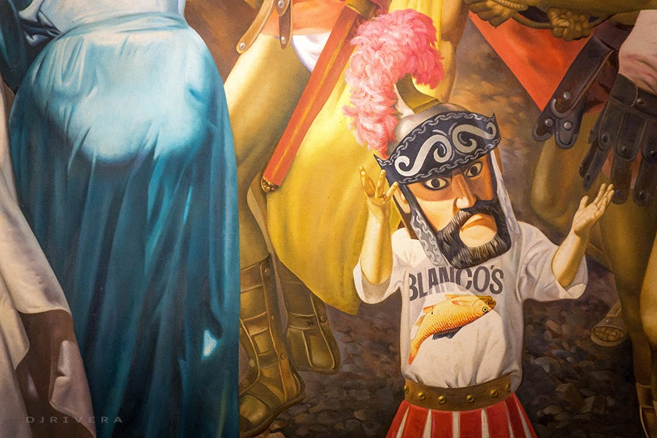 "A young morion from Pitok Blanco's work ""Moriones"""