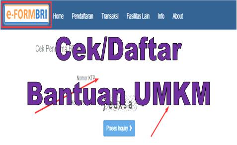 Akses Eform Bri Co Id Login Bpum Cek Bantuan Umkm Online Go Bizz