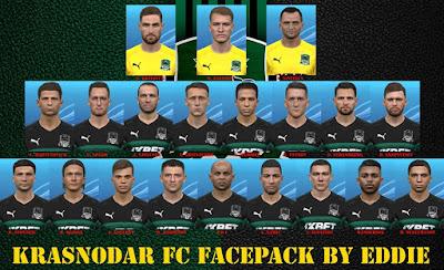 PES 2017 Facepack FC Krasnodar by Eddie Facemaker