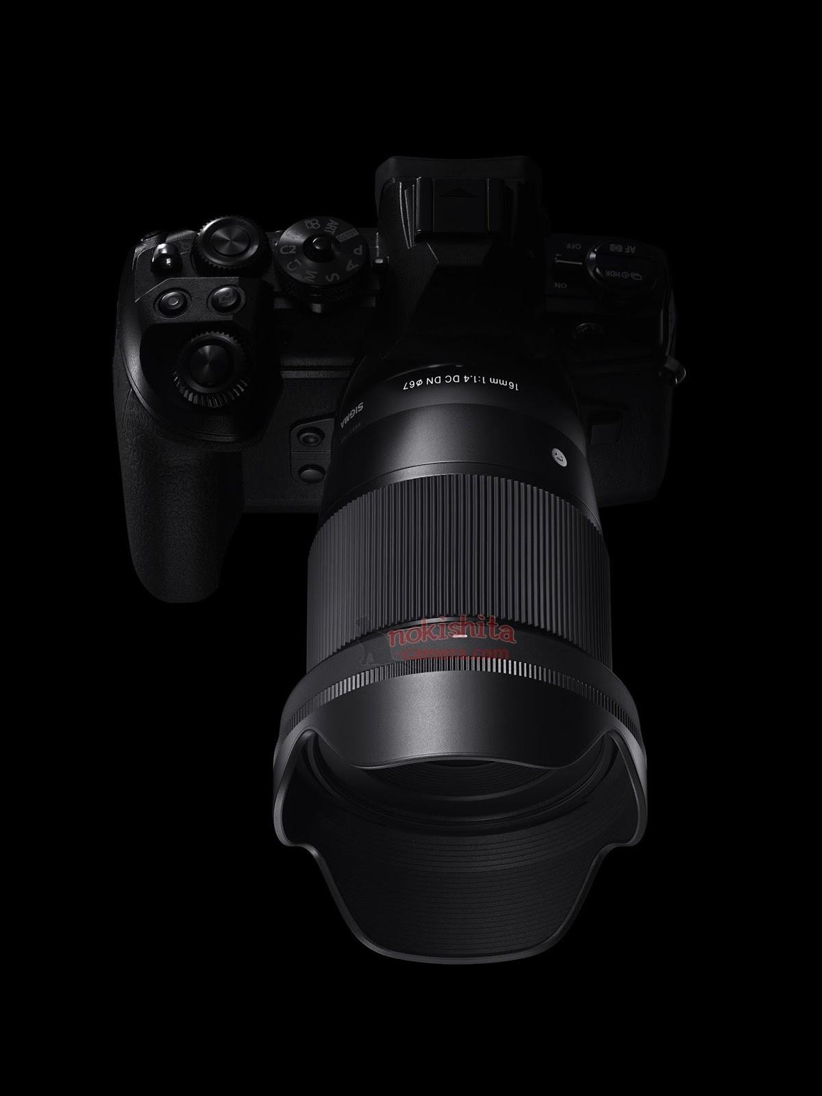 Sigma 16mm f/1.4 DC DN установлен на Olympus OM-D E-M1 Mark II