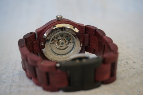 JORD wood watch Cora purpleheart inner workings cogs | AwayFromBlue