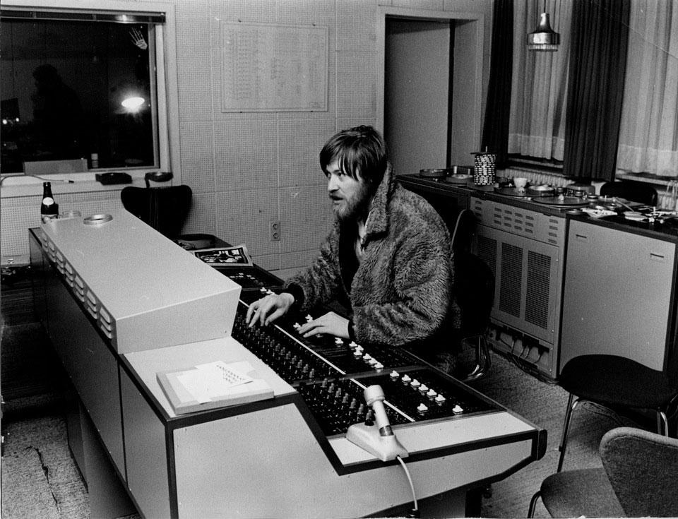 Konrad Plank en su estudio