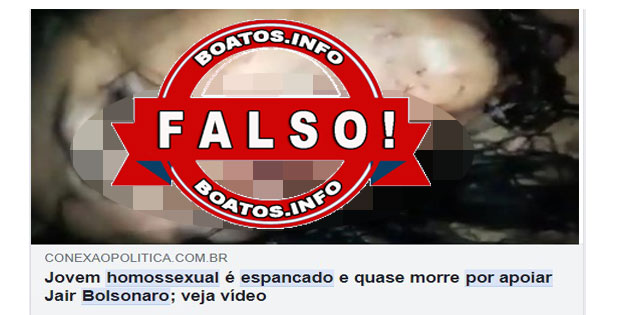 Homossexual não foi espancado por apoiar Bolsonaro - Fake News