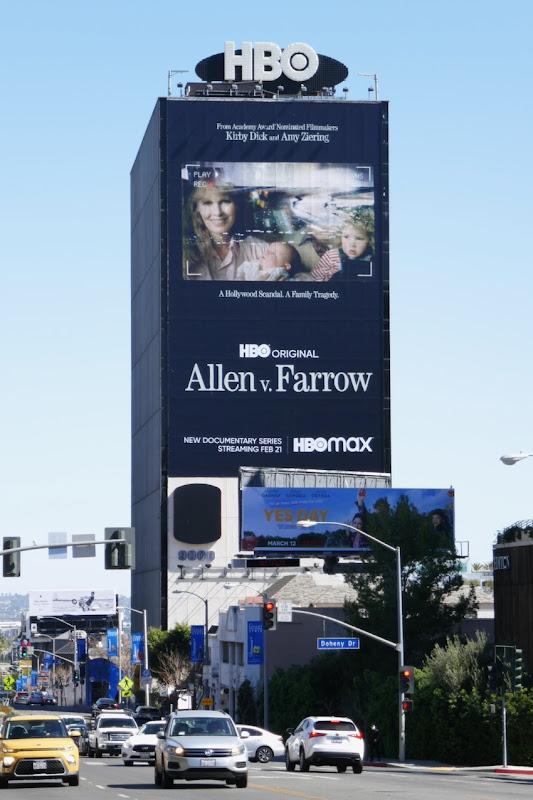Giant Allen v Farrow HBO series billboard