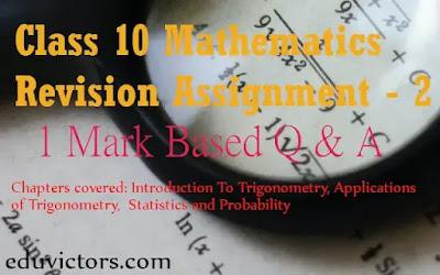 CBSE Class 10 Maths Revision Assignment -2 (#eduvictors)(#cbse)(#class10Maths)