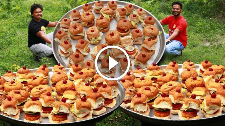 McDonald Style Veg Burger | Veggie Burger Recipe | McDonald's Spicy Burger Recipe | Grandpa Kitchen