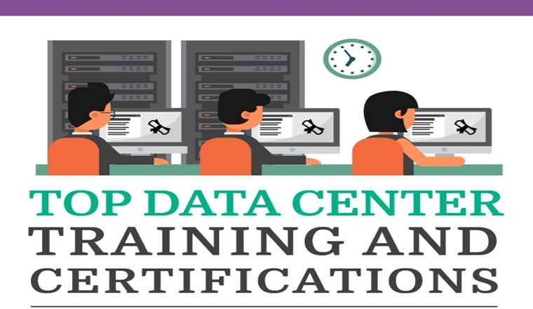 Top Data Center Training and Certifications # Infographic