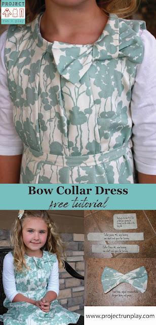 Bow collar dress tutorial