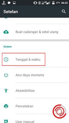 1. Langkah pertama silakan kalian buka menu setting atau pengaturan, lalu scroll ke bawah lalu pilih pada bagian Tanggal & waktu