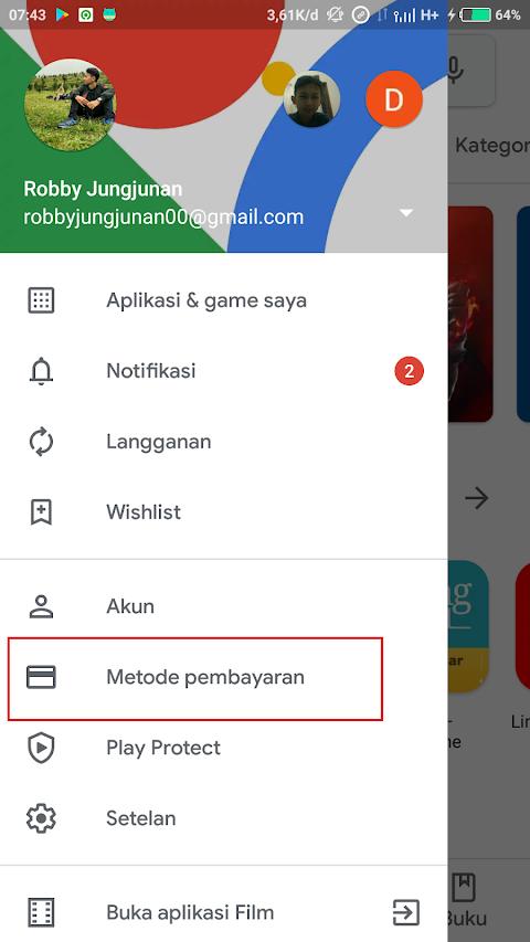 Cara Menambahkan Metode Pembayaran Telkomsel di Google Playstore