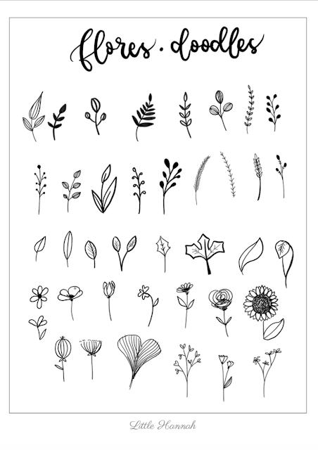 Descargable gratuito: Doodle de flores