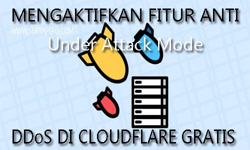 Under Attack Mode adalah halaman tambahan saat membuka website, halaman yang baru tersebut harus menunggu 5 detik sebelum di redirect ke halaman website anda.
