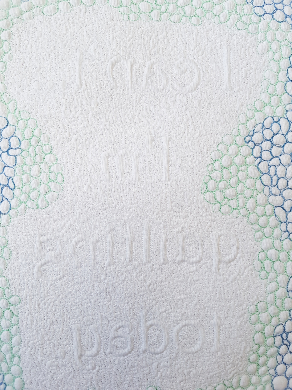 I'm quilting today mini quilt | DevotedQuilter.com