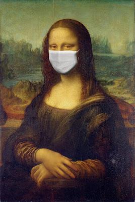 The Coronavirus (Covid-19) ,Lockdown time, Monalisa, mask