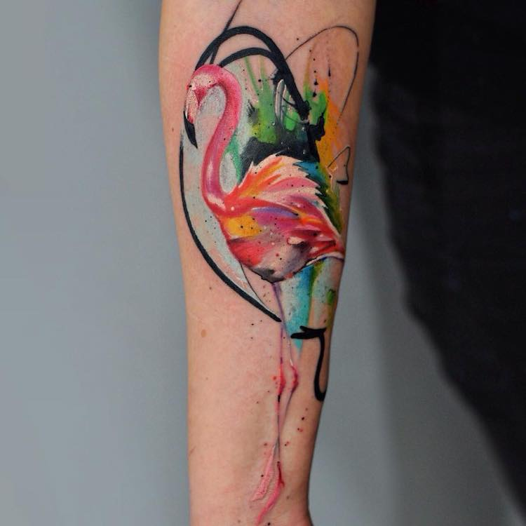 Tattoo Artist Captures Fluidity of Watercolor Paint in Colorful ...
