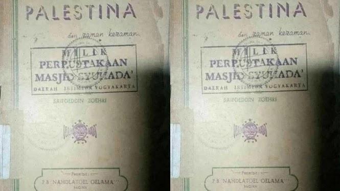 Viral! Beredar Buku Jadul NU Dukung Palestina, 27 Rajab Hari Palestina