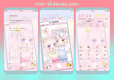 Couple Anime Theme For Vivo Android