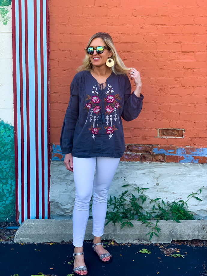 How to Transition a Boho Top to Fall