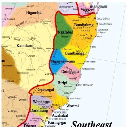 New England Australia Australian National Indigenous Languages - Australian language map