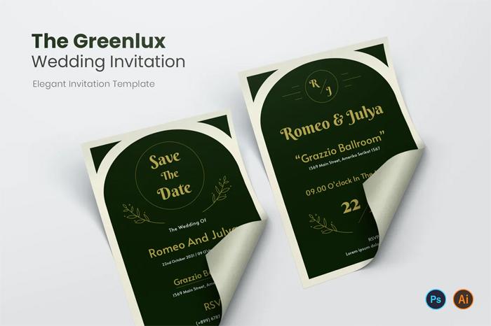 Greenlux Wedding Invitation