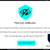 Code Chặn Adblock ( Anti Adblock Killer ) Cho Blogspot