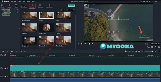 إزالة العلامة المائية من الفيديو Filmora