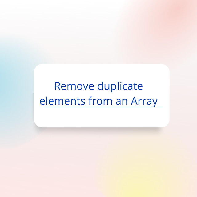 How to remove duplicate elements from an array with Swift 5